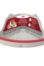 LIVING WORLD Living World Small Animal Corner Litter Pan - Gray - Small - 32 cm L x 22 cm W x 14.5 cm H (12.5 x 8.6 x 5.7 in)
