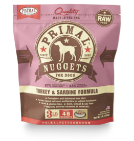 Primal Pet Foods Primal Dog Raw Turkey Sardine Nuggets 3 lb