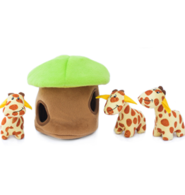 Zippy Paw ZippyPaws Burrow Squeaker Toy Giraffe Lodge