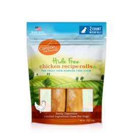 "Canine Naturals Canine Naturals Hide-Free Chicken Rolls Medium 4"" 2 Pk"
