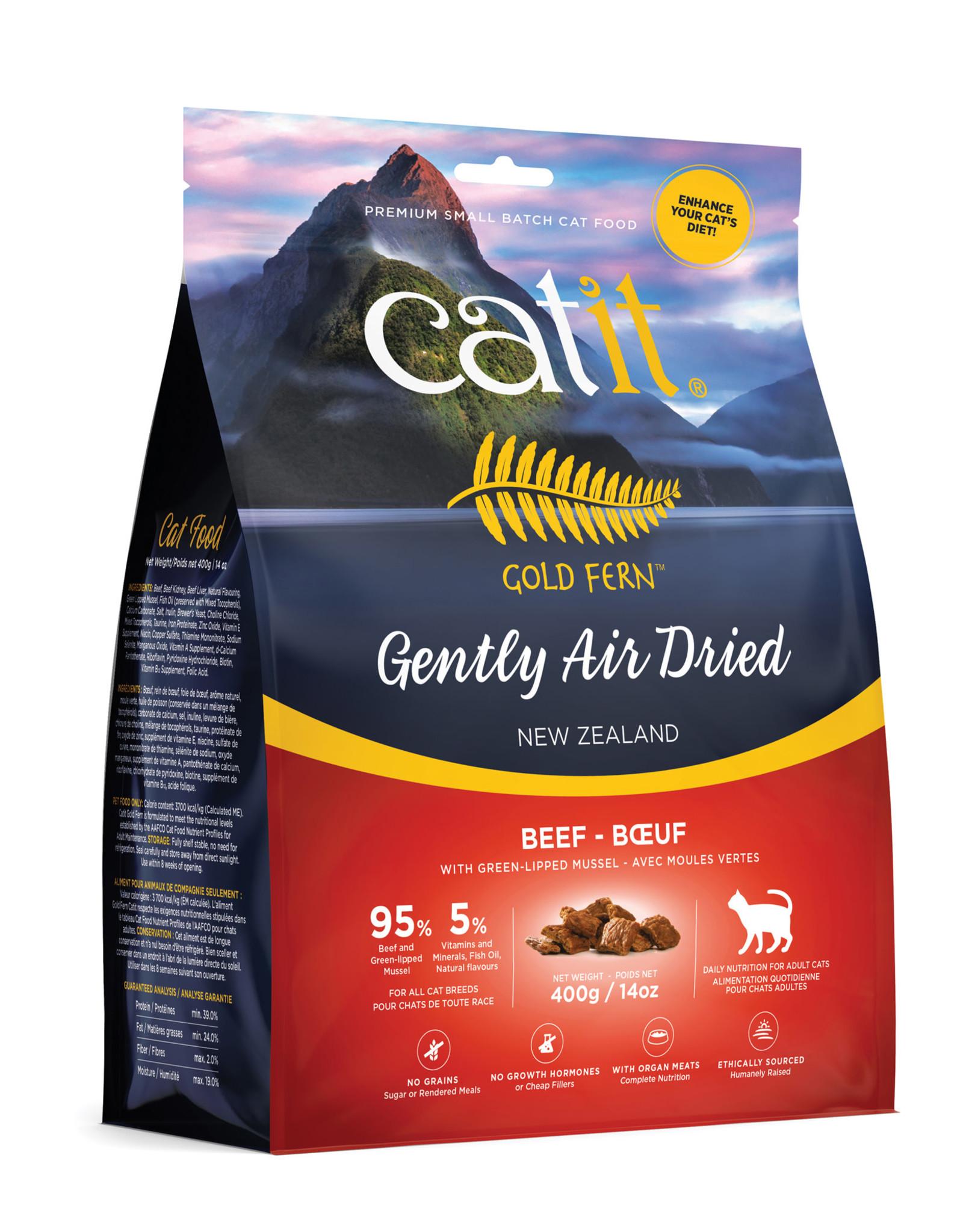 CATIT Catit Gold Fern Premium Air-Dried Cat Food - Beef - 400 g (14.1 oz)