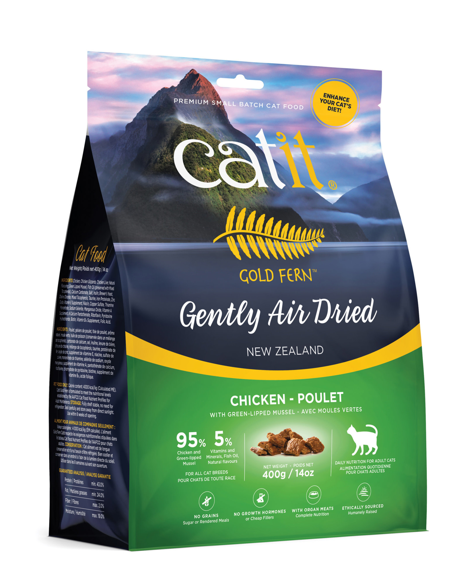 CATIT Catit Gold Fern Premium Air-Dried Cat Food - Chicken - 400 g (14.1 oz)