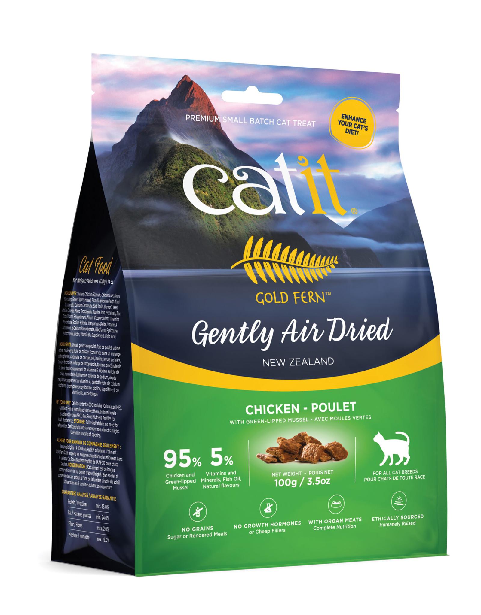 CATIT Catit Gold Fern Premium Air-Dried Cat Food - Chicken - 100 g (3.5 oz)