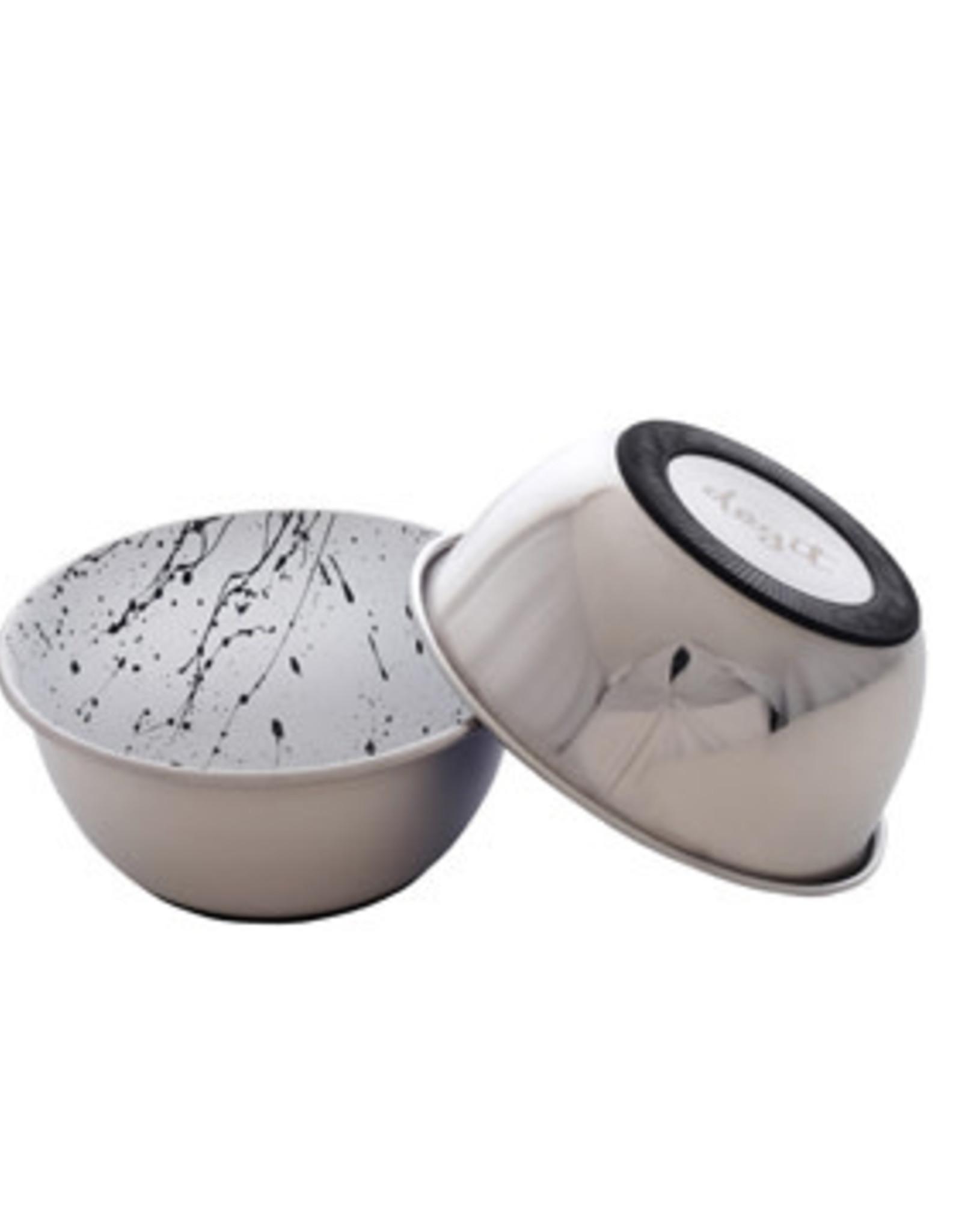 DogIt Dogit Stainless Steel Non-Skid Dog Bowl - Black & White Splash - 500 ml (17 fl.oz.)