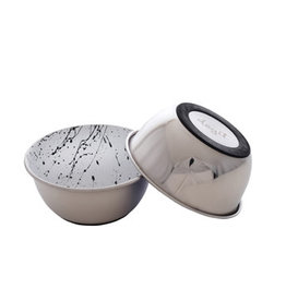 DogIt Dogit Stainless Steel Non-Skid Dog Bowl - Black & White Splash - 500 ml (17 fl.oz.)