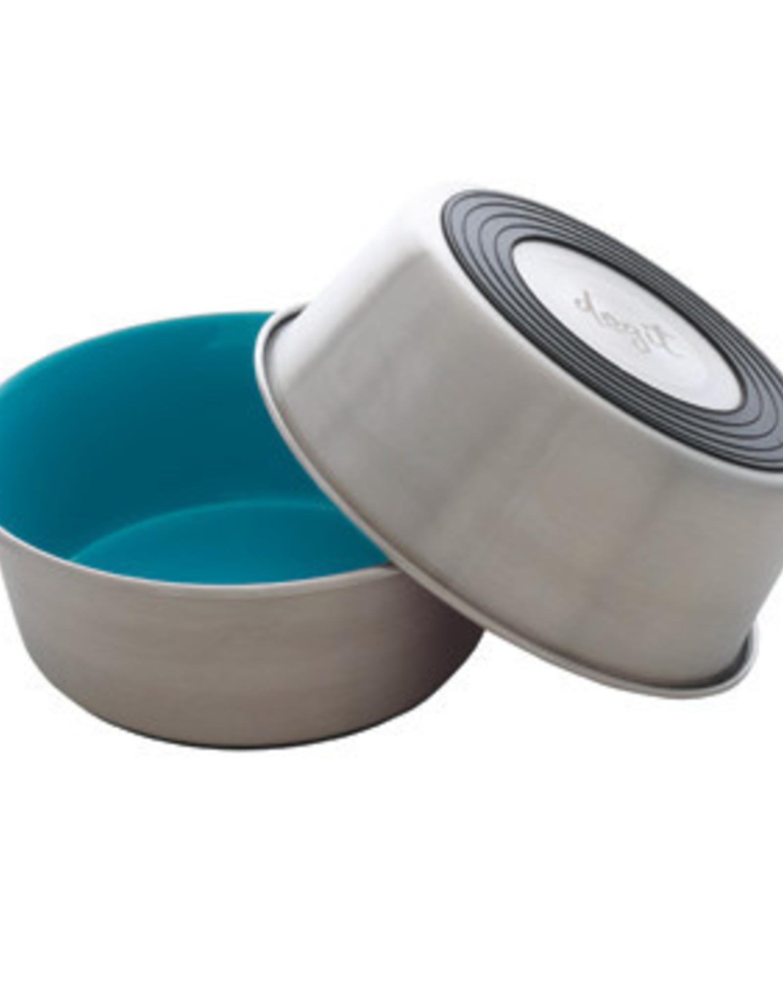DogIt Dogit Stainless Steel Non-Skid Dog Bowl - Blue - 1.15 L (39 fl.oz.)