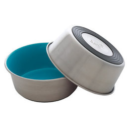 DogIt Dogit Stainless Steel Non-Skid Dog Bowl - Blue - 1.15 L (39 fl.oz.)