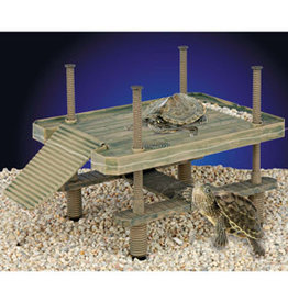 PENN-PLAX INC Penn Plax Reptology Turtle Pier Floating/Basking Platform Large