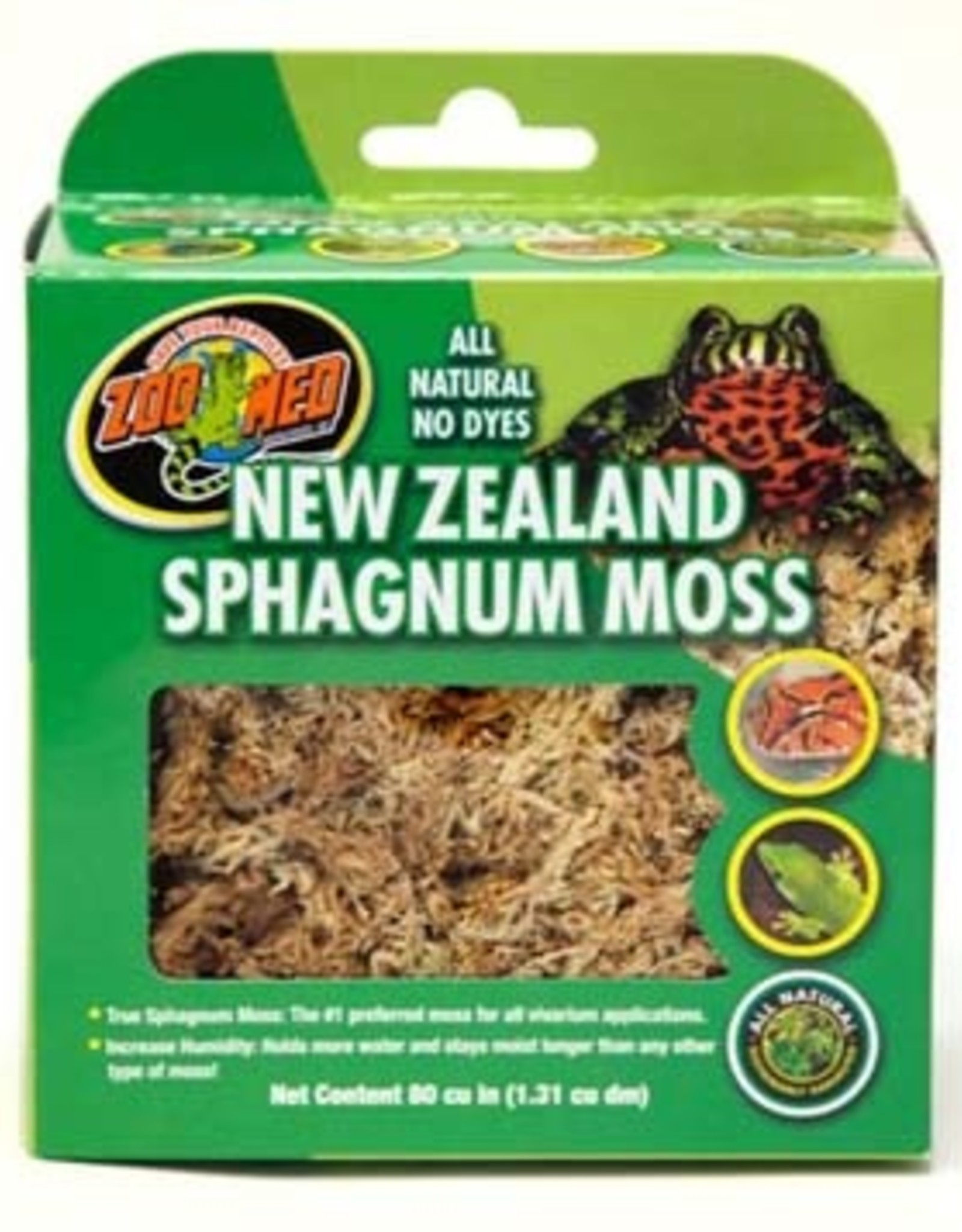 ZOO MED LABORATORIES New Zealand Sphagnum Moss 80 Cubic Inch
