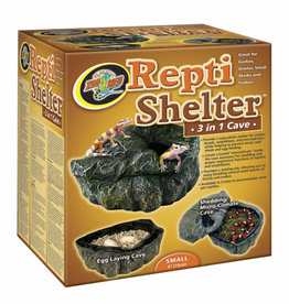 ZOO MED LABORATORIES Zoo Med Repti Shelter 3 in 1 Ceramic Cave Small 6 inch