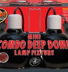 ZOO MED LABORATORIES Zoo Med Mini Combo Deep Dome Lamp To 100 watt On Off Switches