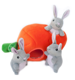 Zippy Paw ZippyPaws Burrow Squeaker Toy Bunny n Carrot
