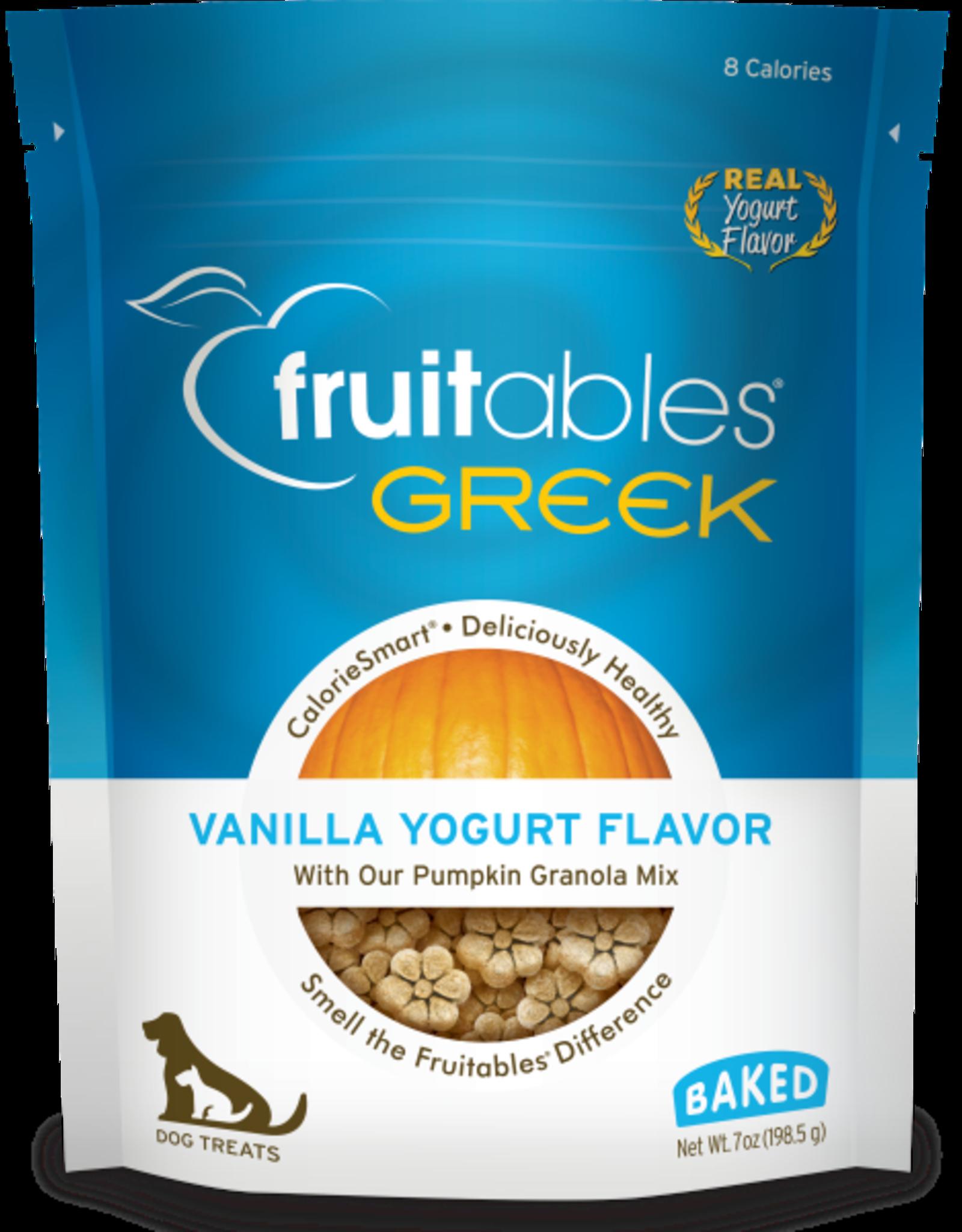 Fruitables Fruitables Dog Greek Vanilla Yogurt Crunchy Treats 198 g