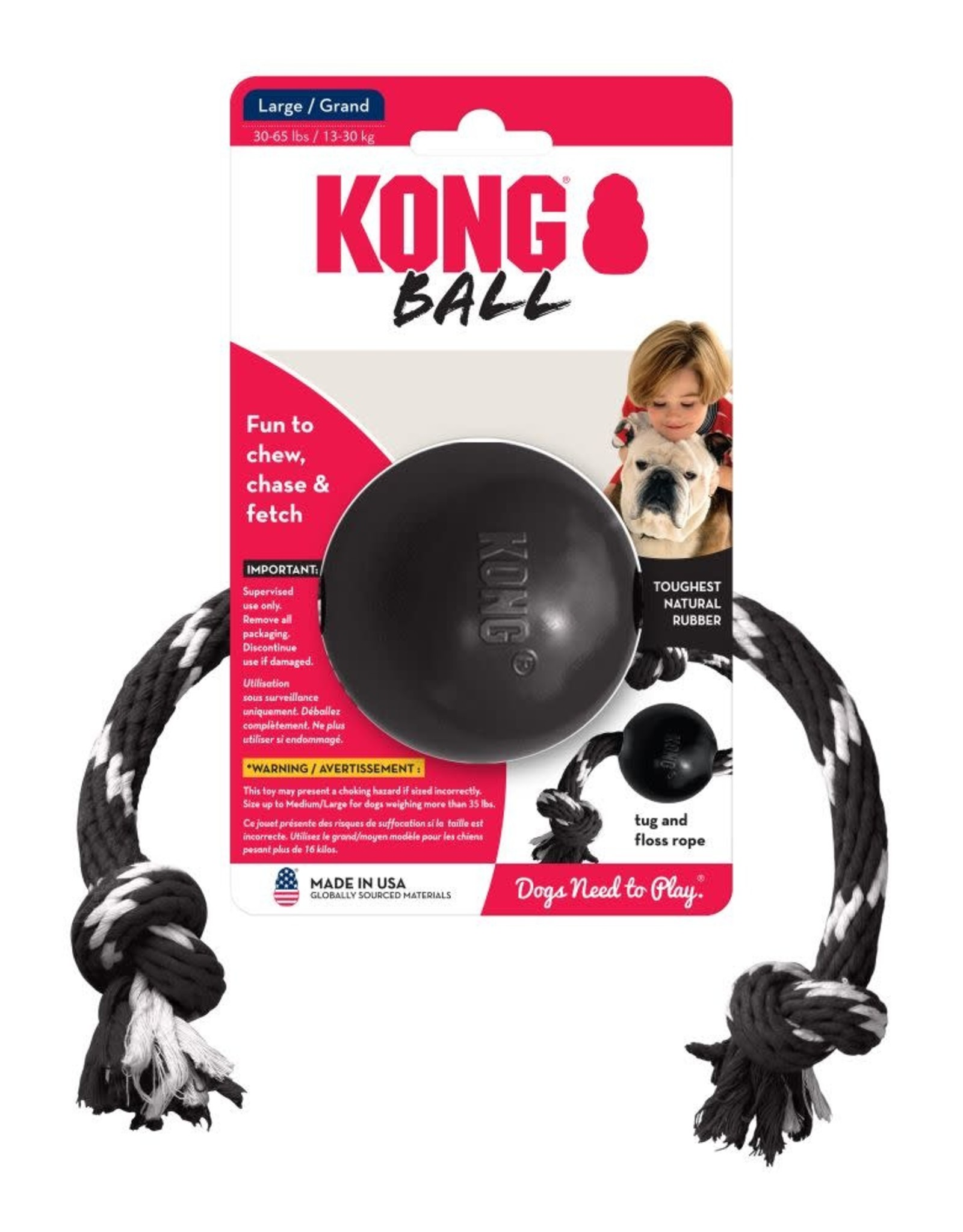 KONG KONG Ball with Rope - Extreme