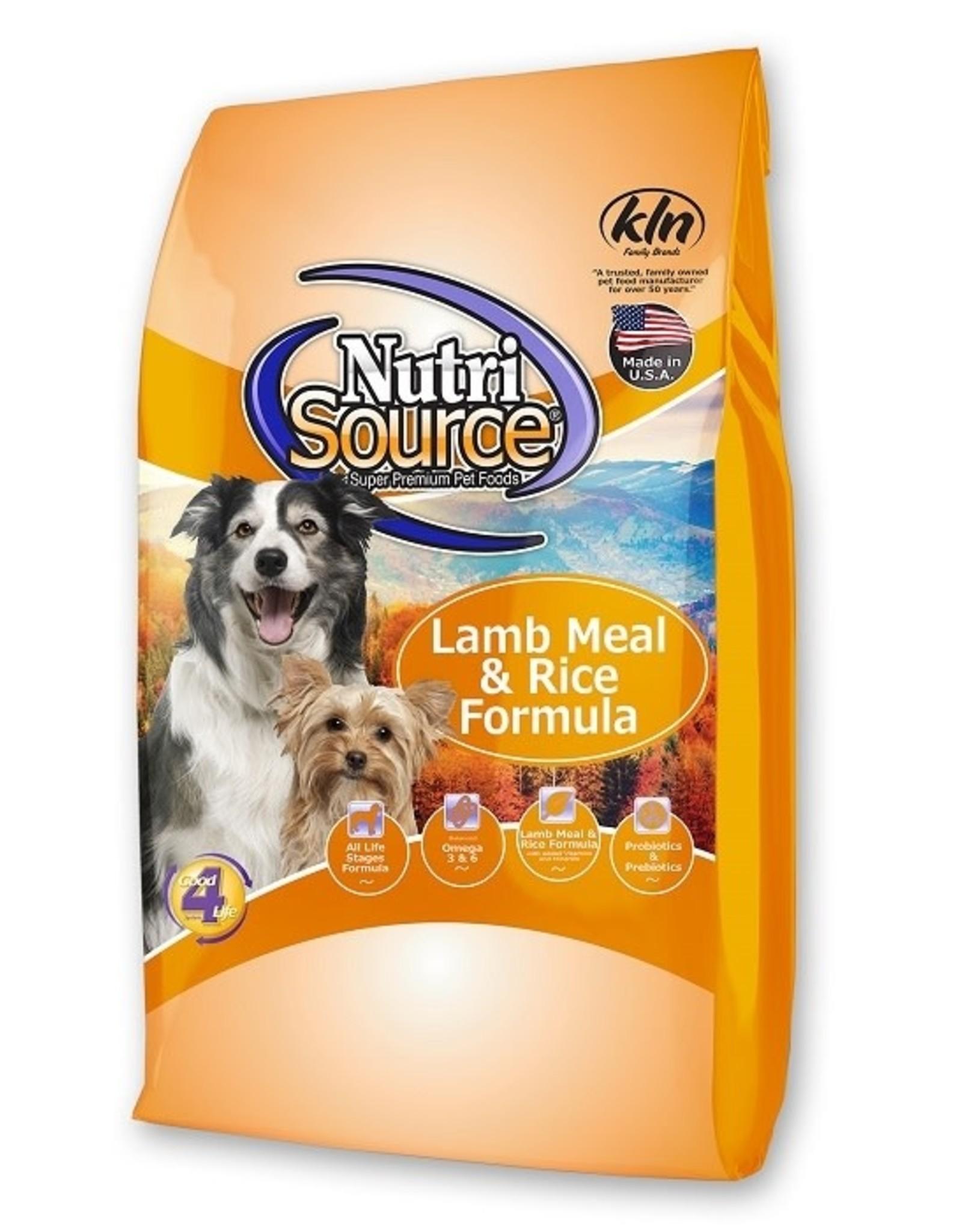 NUTRISOURCE NUTRISOURCE Lamb & Rice 5 lb