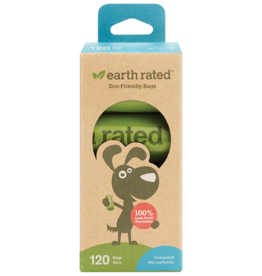 Earth Rated Unscented Refill Bags | 8 Rolls 120 Bags