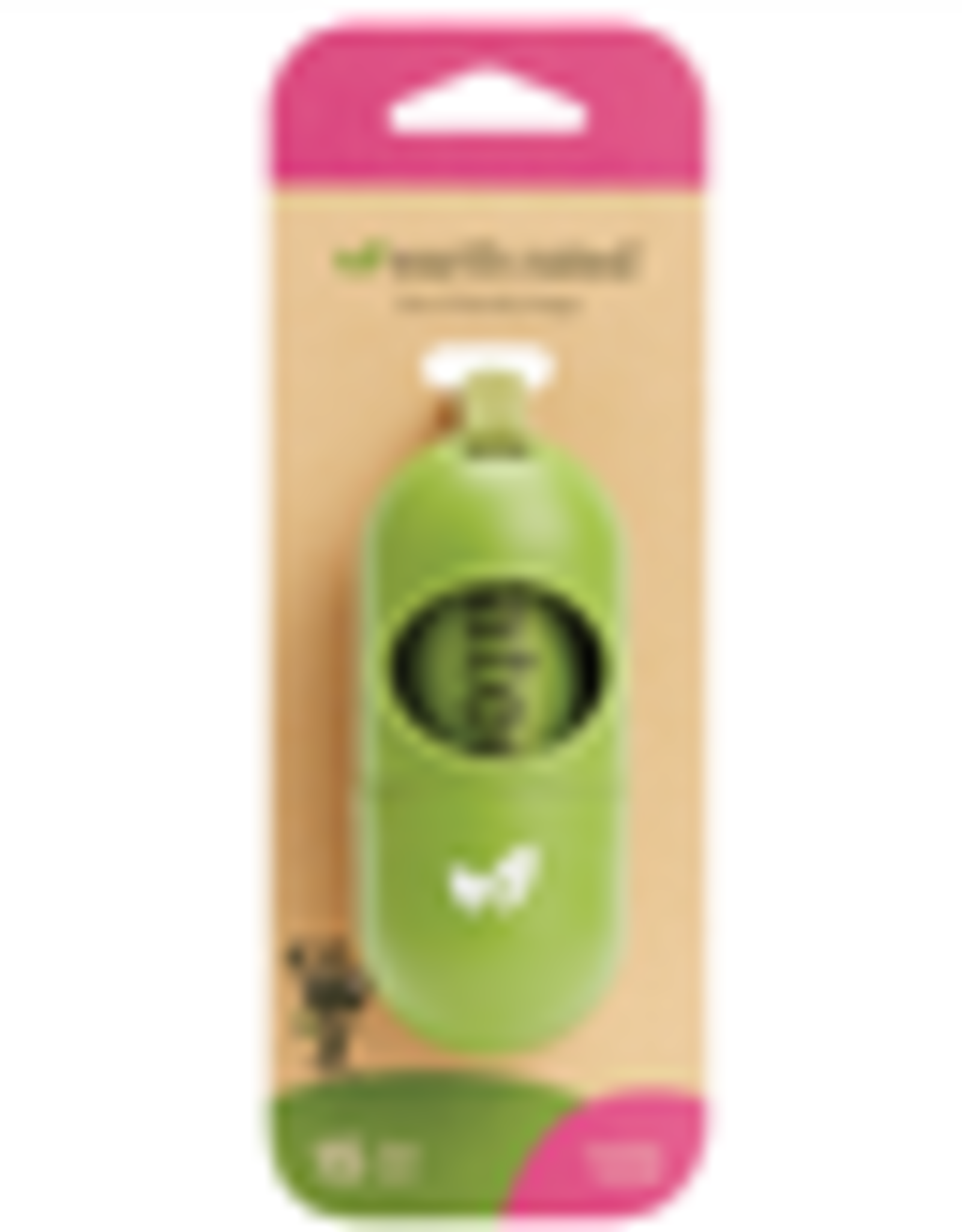 Earth Rated Leash Dispenser with 1 Roll Lavender | 15 Bags