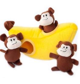 Zippy Paw Zippy Paws Burrow Squeaker Toy Monkey n Banana