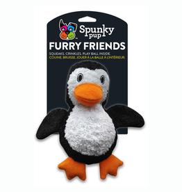 Spunky Pup Spunky Pup Furry Friends Penguin w/ Ball Squeaker