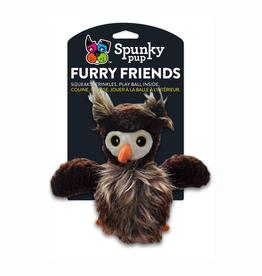 Spunky Pup Spunky Pup Furry Friends Owl w/ Ball Squeaker