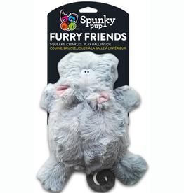 Spunky Pup Spunky Pup Furry Friends Hippo w/ Ball Squeaker