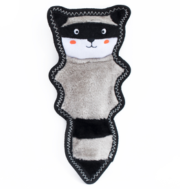 Zippy Paw ZippyPaws Z-Stitch Skinny Peltz Squeaker Toy Raccoon
