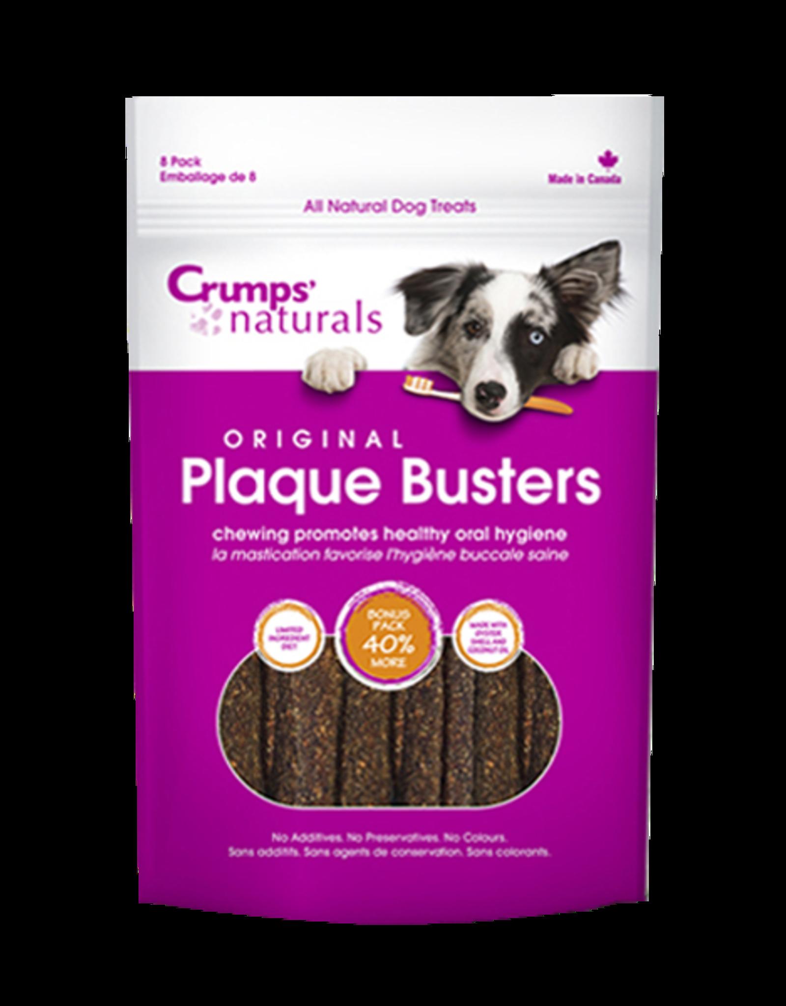 """Crump's Naturals Crumps' Naturals Dog Plaque Busters 4.5"""" 8 pk"""