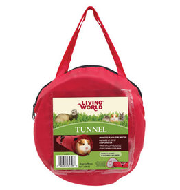 LIVING WORLD Living World Tunnel, Medium, Red/Gray