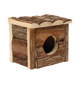 LIVING WORLD Living World Tree House Real Wood Cabin - Small - 15.5 cm (6in) L x 15.5 cm (6in) W x 15 cm (5.75in) H