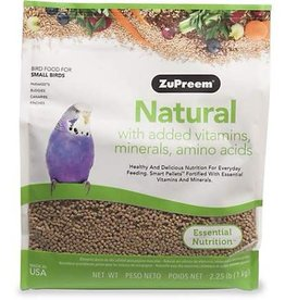 ZUPREEM Zupreem Natural with Added Vitamins Minerals and Amino Acids for Small Birds 1.02 Kg