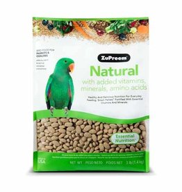 ZUPREEM Zupreem Natural with Added Vitamins Minerals and Amino Acids for Parrots + Conures 1.36 Kg