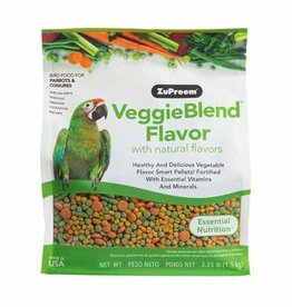 ZUPREEM Zupreem VeggieBlend with Natural Flavor Daily Bird Food for Parrots/Conures 1.47 Kg