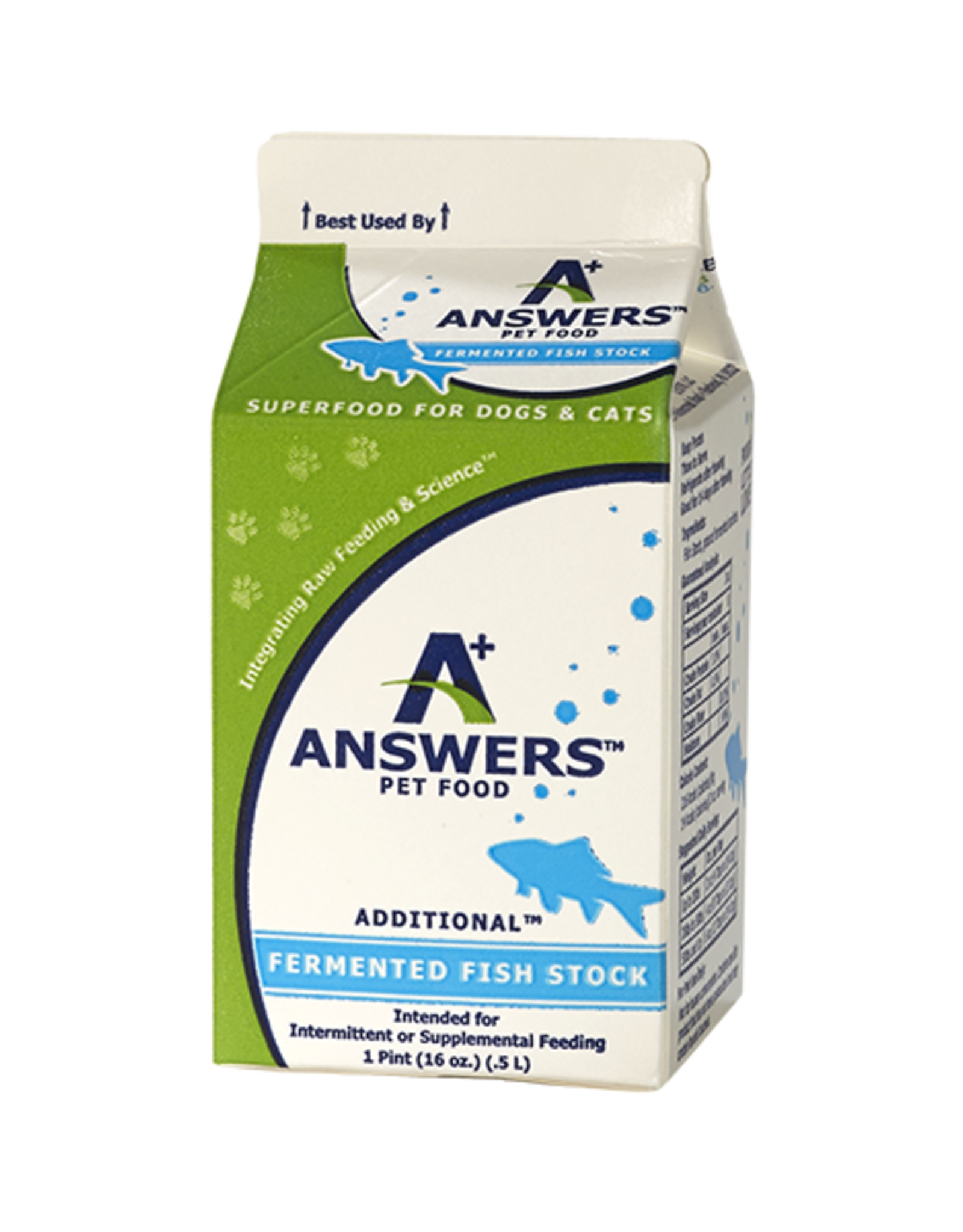 Answers Answers Additional Fermented Fish Stock Pint / 16 oz