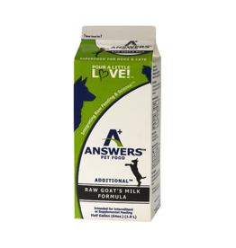 Answers Answers Additional Raw Goat Milk Formula Half Gallon / 64 oz