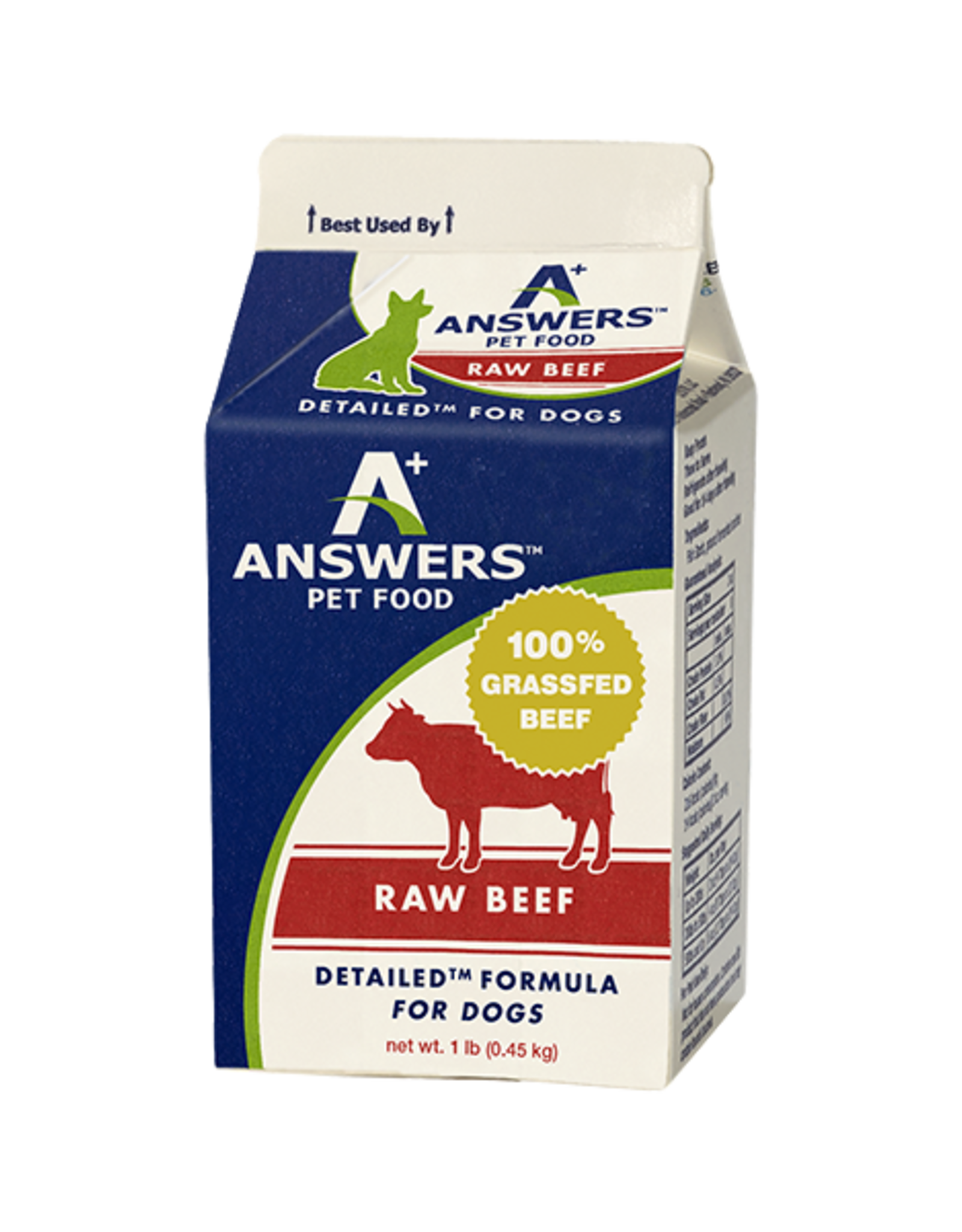 Answers Answers Dog Detailed Raw Beef Formula 1 lb
