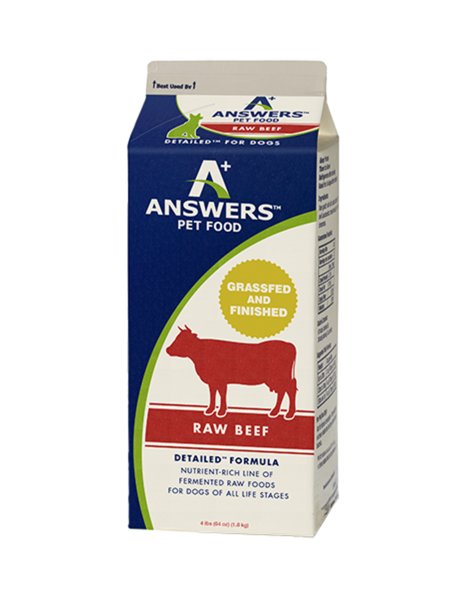 Answers Dog Detailed Raw Beef Formula 4 lb