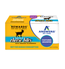 Answers Answers Rewards Raw Goat Milk Cheese Treat w Blueberries 8oz