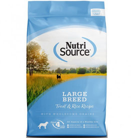 NUTRISOURCE NUTRISOURCE Large Breed Trout & Rice 30lb