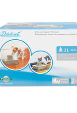 Drinkwell Drinkwell Pet Taupe Stoneware Pagoda Fountain 2L