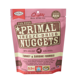 Primal Pet Foods Primal Dog Freeze Dried Turkey Sardine 5.5 oz