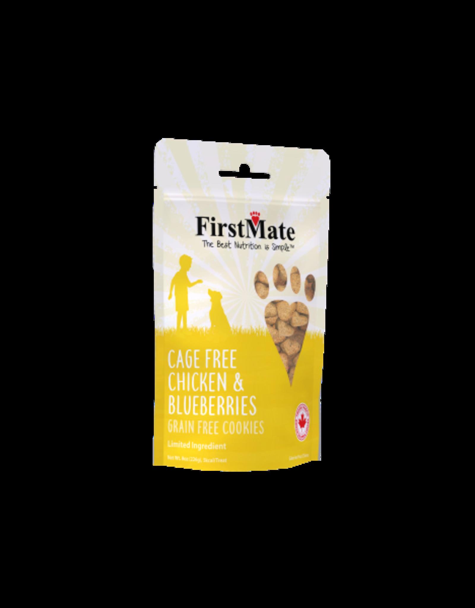First Mate FirstMate Dog LID GF Chicken & Blueberries Cookies 8 oz