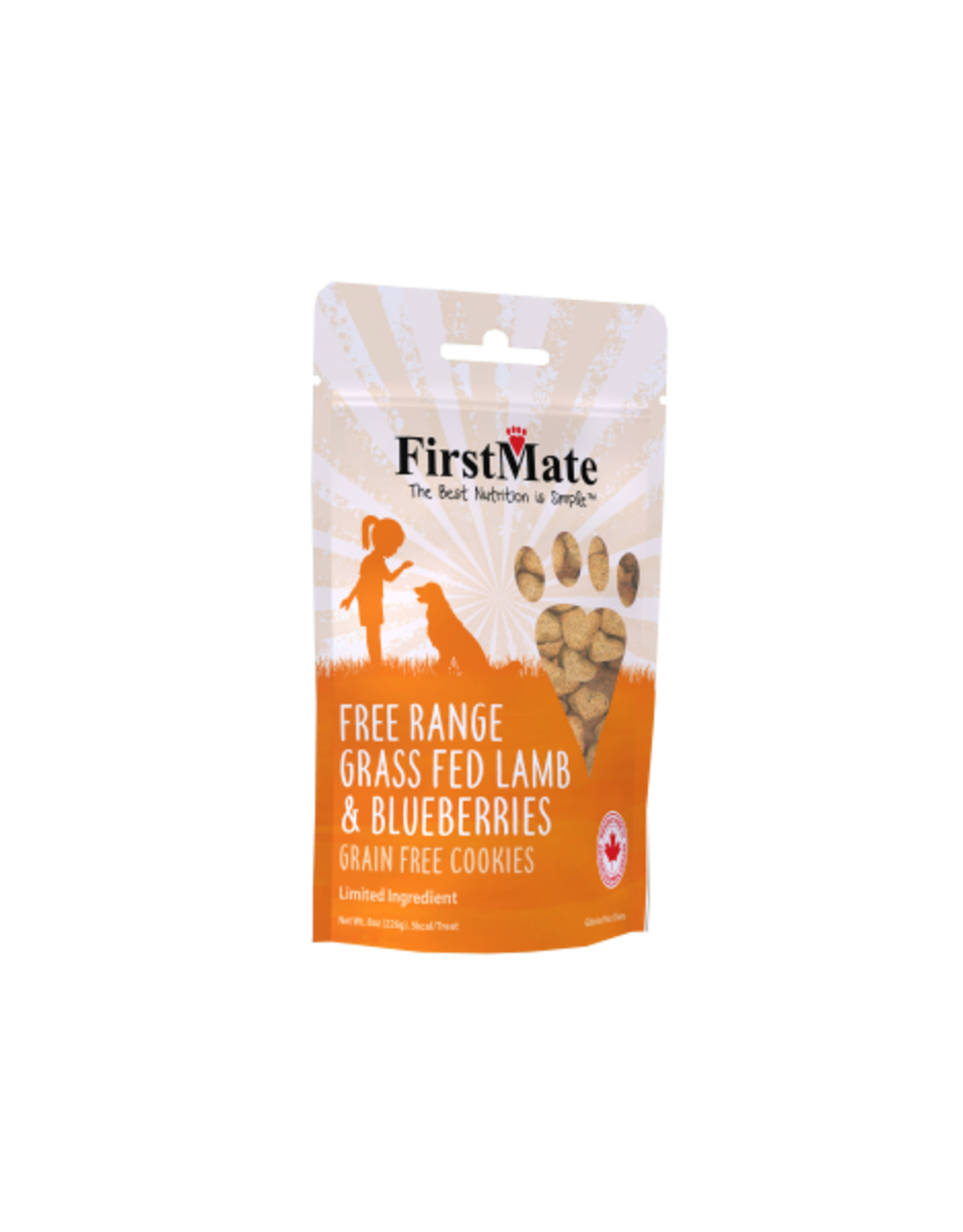 First Mate FirstMate Dog LID GF FRange Lamb/Blueberries Cookies 8 oz