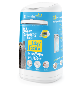 LITTER LOCKER LitterLocker Design Plus Cat Litter Pail White