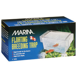 MARINA Marina 3 in 1 Breeding Trap - 16.5 L x 8.25 W x 8.9 H cm (6.5 L x 3.25 W x 3.5 H in)