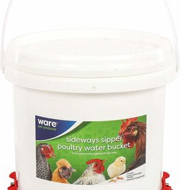 WARE MANUFACTURING Sideways Sipper - Poultry Water Bucket