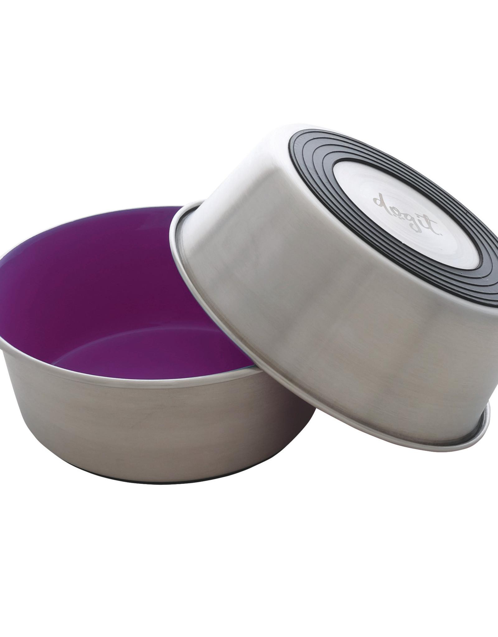 DogIt Dogit Stainless Steel Non-Skid Dog Bowl - Purple - 560 ml (19 fl.oz.)