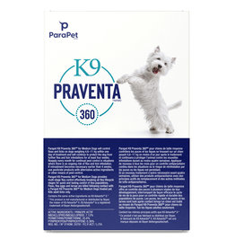 K9 Praventa K9 Praventa 360 Flea & Tick Treatment - Small Dogs up to 4.5 kg - 3 Tubes