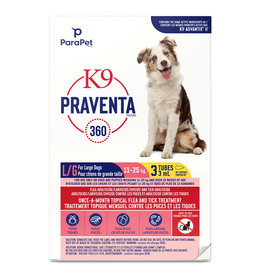 K9 Praventa K9 Praventa 360 Flea & Tick Treatment - Large Dogs 11 kg to 25 kg - 3 Tubes