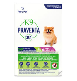 K9 Praventa K9 Praventa 360 Flea & Tick Treatment - Small Dogs up to 4.5 kg - 6 Tubes