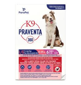 K9 Praventa K9 Praventa 360 Flea & Tick Treatment - Large Dogs 11 kg to 25 kg - 6 Tubes
